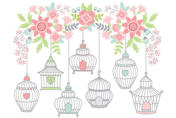 Flowers With Bird Cages