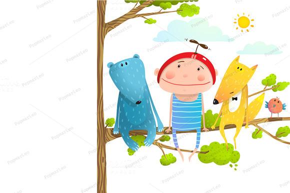Baby Animals Kid Friends Cartoon
