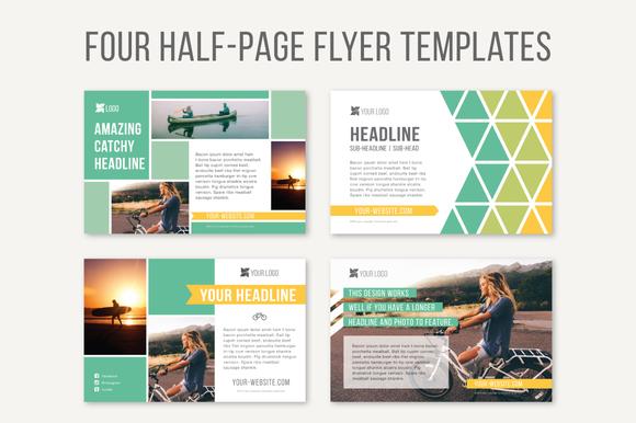 Half page print graphic templates free in design designtube creative design content for Half page template