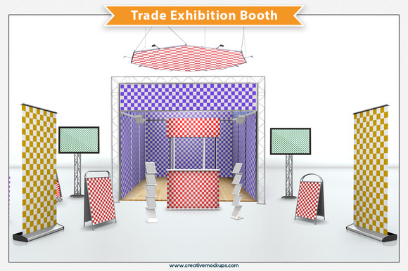 Exhibition Booth Template : Indesign template for trade show display booth