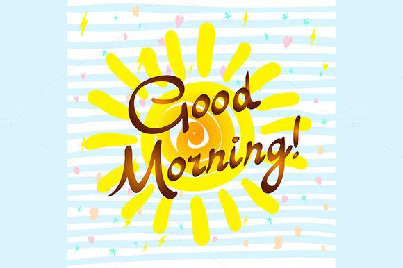 Shortstraw Good Morning Sunshine Zip : Stock graphic good morning hand drawn typographic