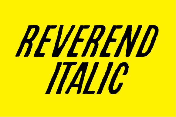 REVEREND ITALIC