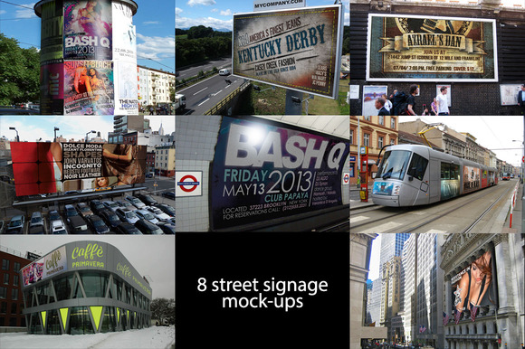 8 Urban Signs Mock-Up