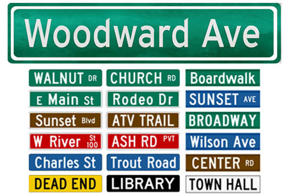 Street Names Signs