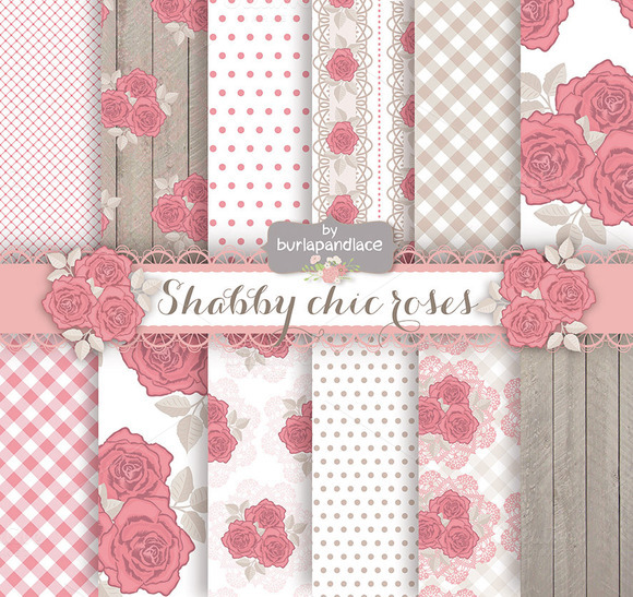 Shabby Chic Roses Patterns