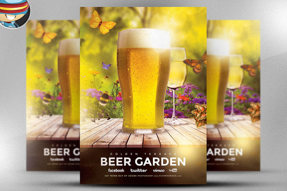 Beer Garden Flyer Template
