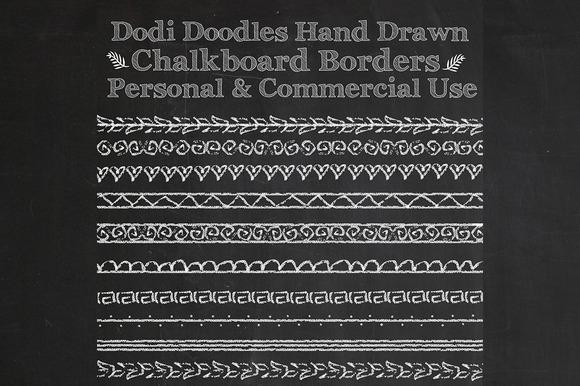 Hand Drawn Chalkboard Borders