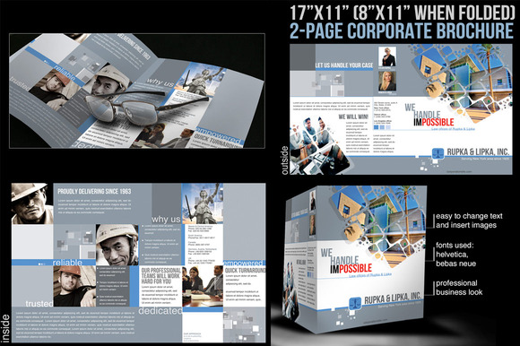 2 Page Corporate Brochure