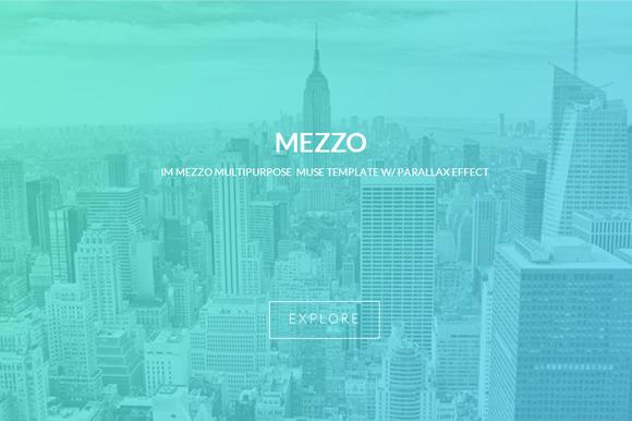 Mezzo Parallax Muse Template