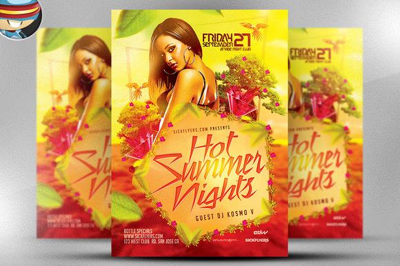 Hot Summer Nights Flyer Template
