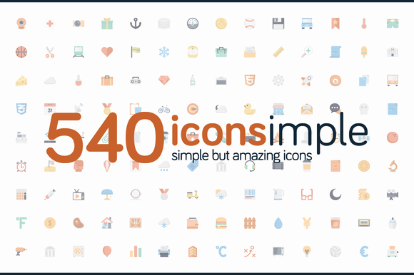 Iconsimple ~ 540 Icons