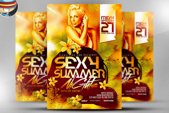 Sexy Summer Nights Flyer Template