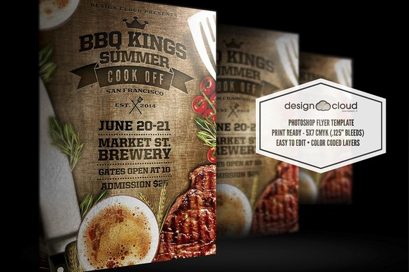 BBQ Kings Summer Cook Off Flyer
