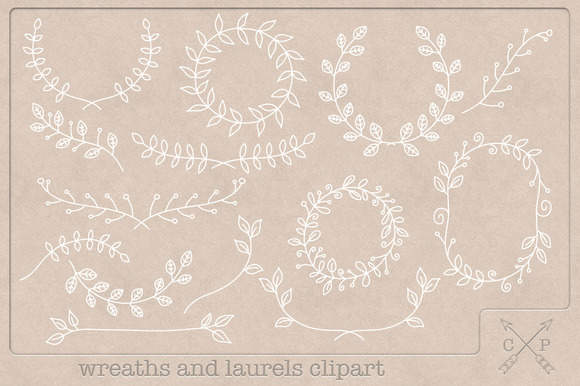 Handdrawn Wreaths And Laurels