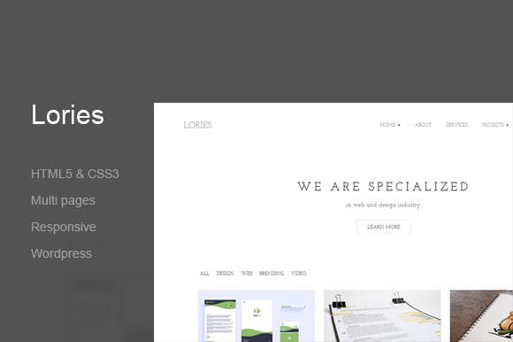 Lories-Wordpress Portfolio Agency