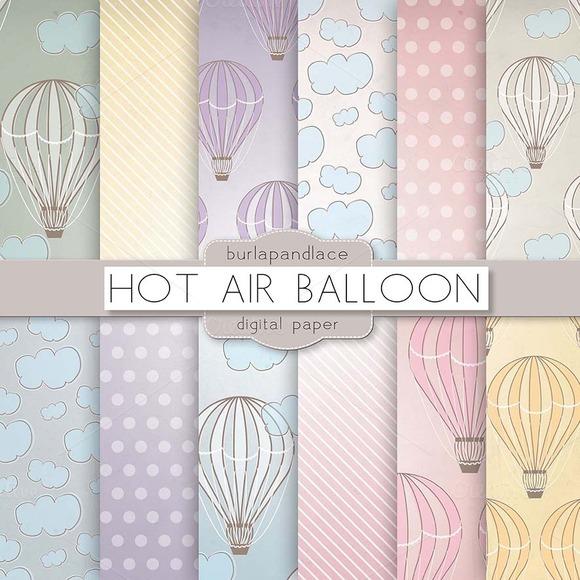 Hot Air Balloons Digital Pattern