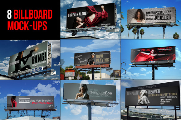 8 Quality Billboard Mock-Ups
