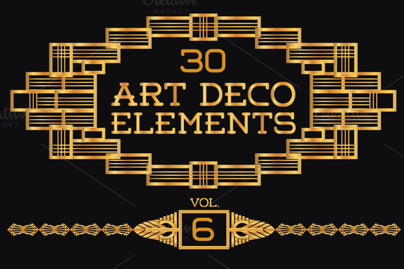 30 Art Deco Elements Vol6