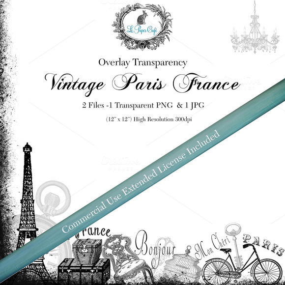 Vintage Paris Overlay Transparency