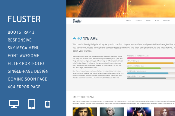 Fluster Multi-Purpose Template