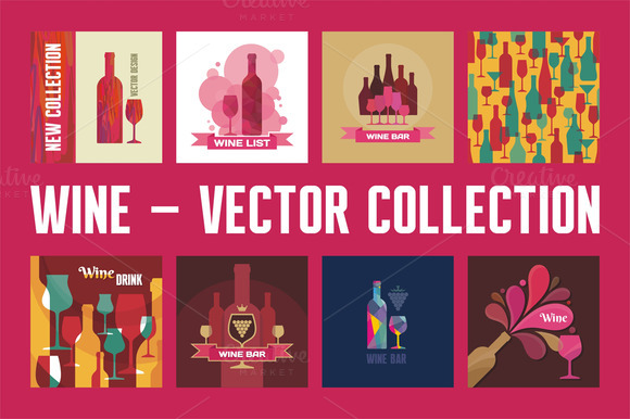 Wine Vector Collection