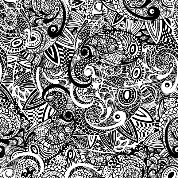 Vector Seamless Paisley Doodle Patte