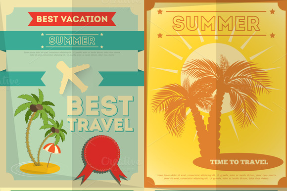 Travel Posters Set