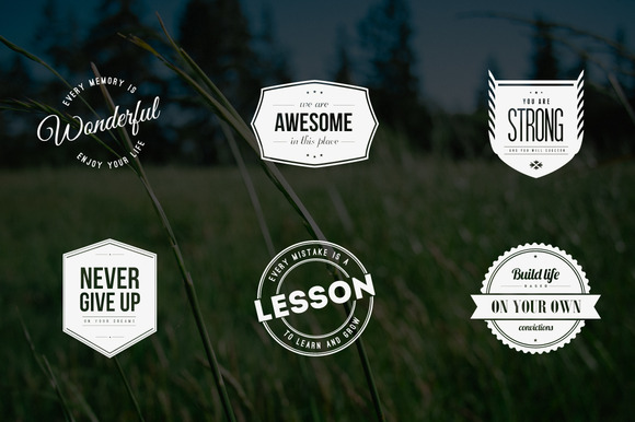 Vintage Logos Badges Quote Style