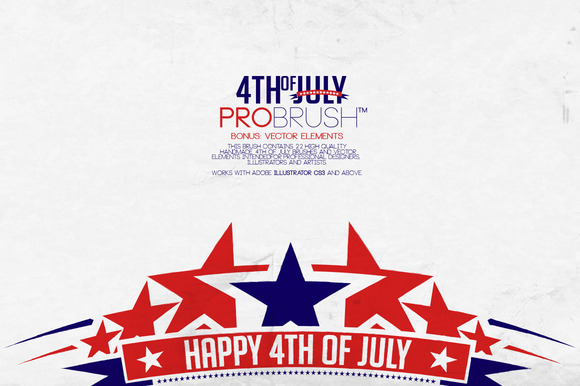 4th Of July ProBrush Vectors