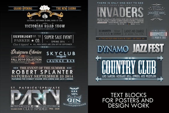Blocks Of Text For Posters And Flyer