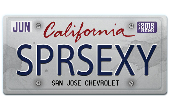 California License Plate Mock-Up
