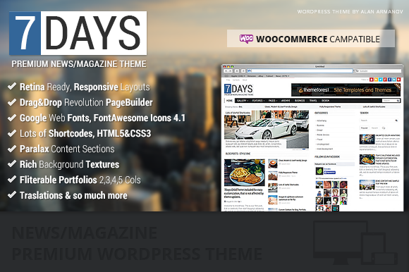 7Days Wordpress News Magazine Theme