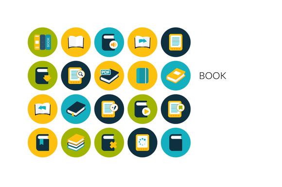 Flat Icons Set Book