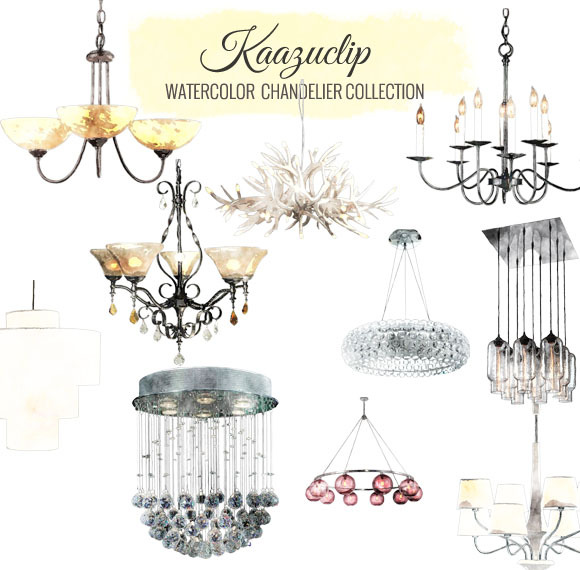 Watercolor Chandelier Collection