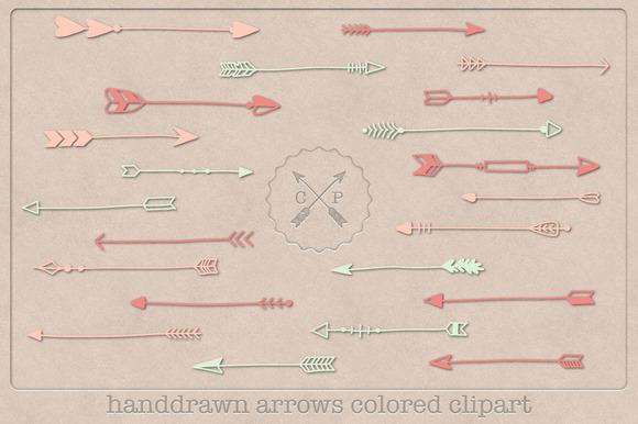 Handdrawn Colored Arrows