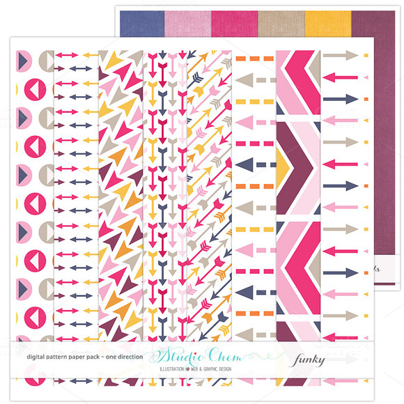 Funky Digital Pattern Papers