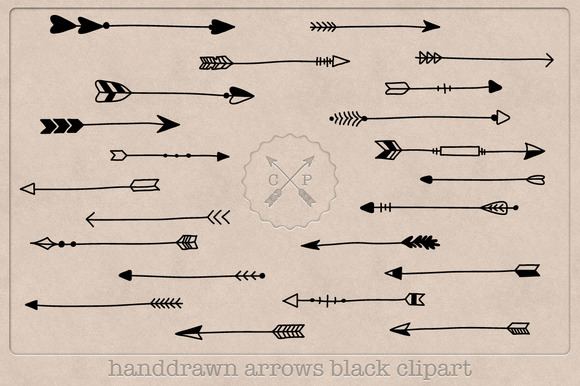 Hand Drawn Arrows Clipart