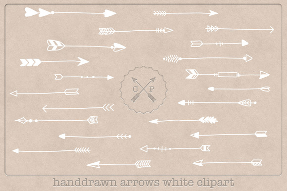 Arrows Handdrawn Clipart White