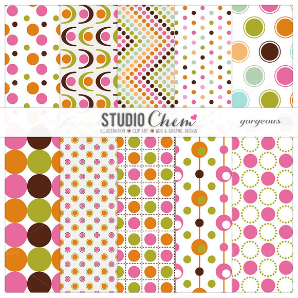 Gorgeous Dotty Pattern Papers