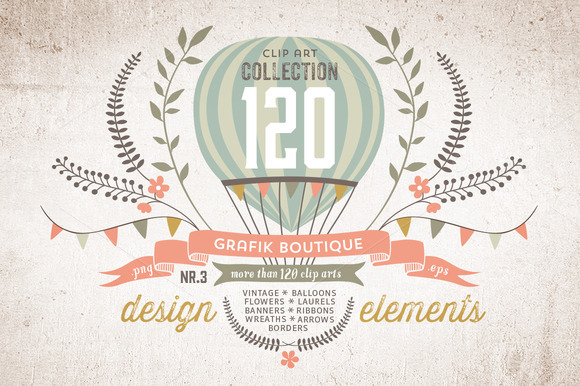 Design Elements 120 Clip Arts