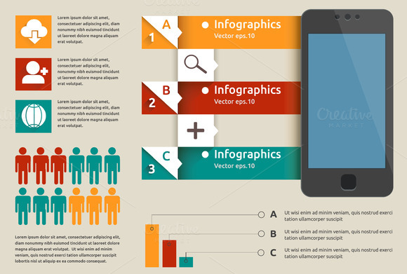 Mobile Labels Infographic