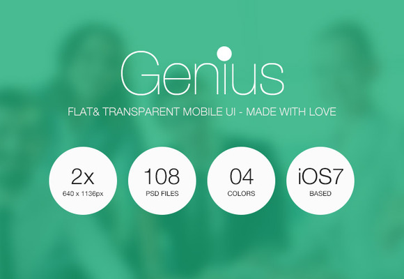 Genius Ios7 Flat Iphone Ui Set