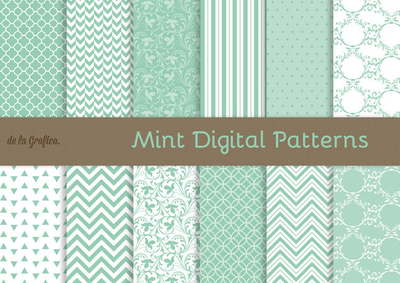 Mint Digital Patterns