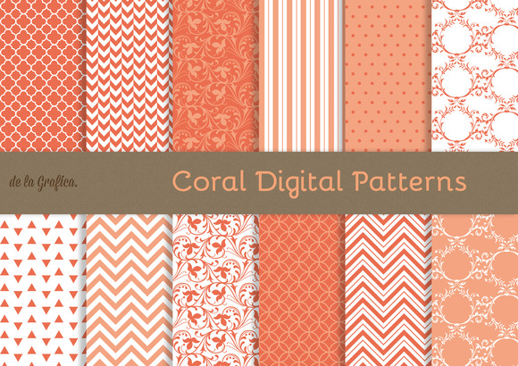 Coral Digital Patterns