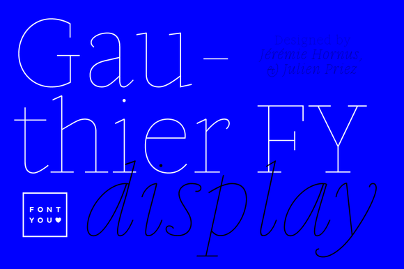 Gauthier Display FY Thin Italic