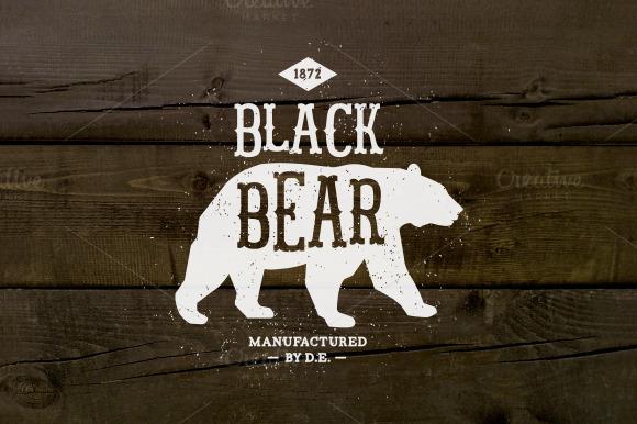 Vintage Label Black Bear