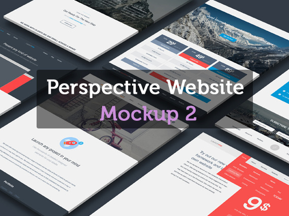 Perspective Website Mockup 2.0
