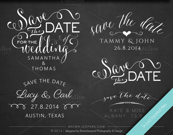 Save The Date Photo Overlays