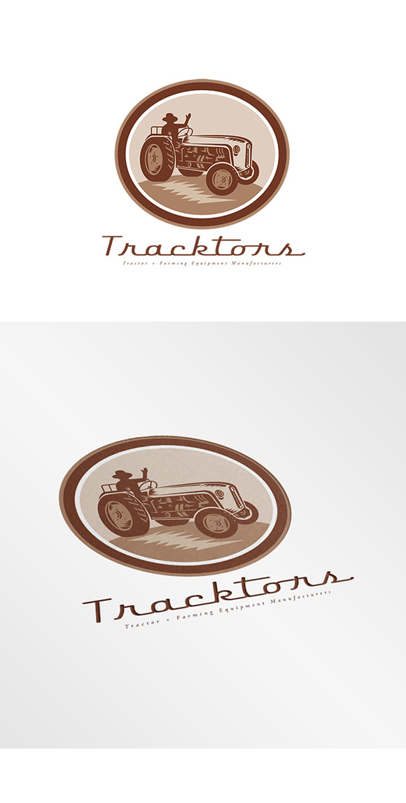 Tracktors Farming Equipment Logo