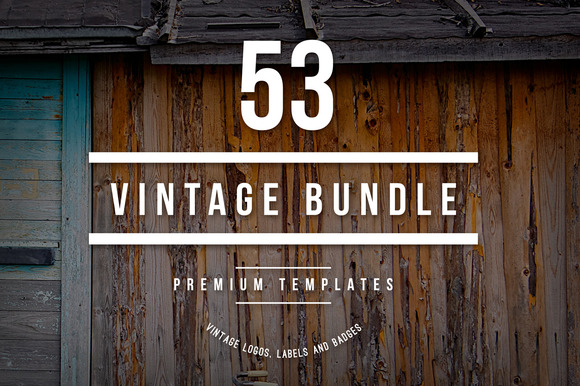 Bundle 53 Vintage Logos Badges